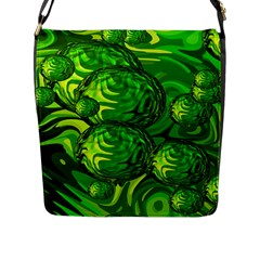 Green Balls  Flap Closure Messenger Bag (large) by Siebenhuehner
