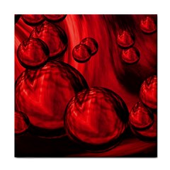 Red Bubbles Ceramic Tile by Siebenhuehner