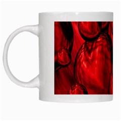 Red Bubbles White Coffee Mug by Siebenhuehner