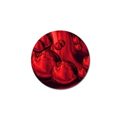 Red Bubbles Golf Ball Marker 10 Pack by Siebenhuehner