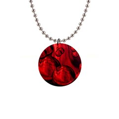 Red Bubbles Button Necklace by Siebenhuehner