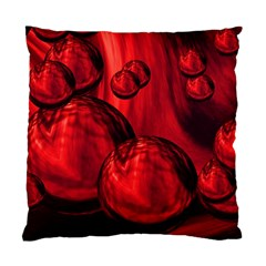Red Bubbles Cushion Case (two Sided)  by Siebenhuehner