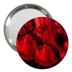 Red Bubbles 3  Handbag Mirror by Siebenhuehner