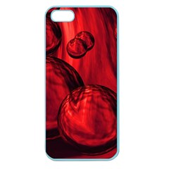 Red Bubbles Apple Seamless Iphone 5 Case (color) by Siebenhuehner