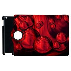 Red Bubbles Apple Ipad 3/4 Flip 360 Case by Siebenhuehner