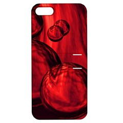 Red Bubbles Apple Iphone 5 Hardshell Case With Stand by Siebenhuehner