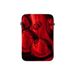 Red Bubbles Apple Ipad Mini Protective Soft Case by Siebenhuehner