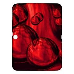 Red Bubbles Samsung Galaxy Tab 3 (10 1 ) P5200 Hardshell Case  by Siebenhuehner