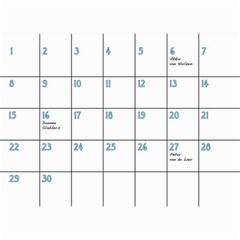 Birthday Calendar2 By Sierra Nitz   Wall Calendar 8 5  X 6    6dkage4a7ol6   Www Artscow Com Jun 2013