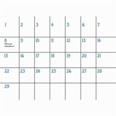 Birthday Calendar2 By Sierra Nitz   Wall Calendar 8 5  X 6    6dkage4a7ol6   Www Artscow Com Feb 2013