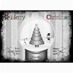 Christmas Card2013 By Sierra Nitz   5  X 7  Photo Cards   D7fjm3fu9wbo   Www Artscow Com 7 x5 Photo Card - 2