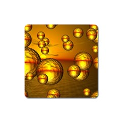 Sunset Bubbles Magnet (square) by Siebenhuehner