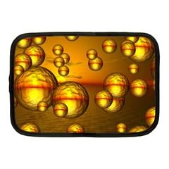 Sunset Bubbles Netbook Case (medium) by Siebenhuehner