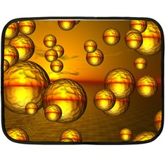 Sunset Bubbles Mini Fleece Blanket (two Sided) by Siebenhuehner