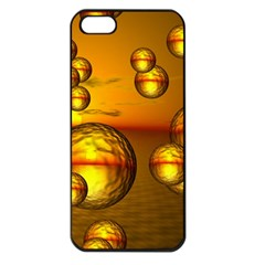 Sunset Bubbles Apple Iphone 5 Seamless Case (black) by Siebenhuehner
