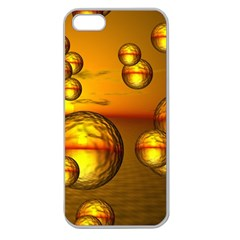 Sunset Bubbles Apple Seamless Iphone 5 Case (clear) by Siebenhuehner