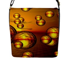 Sunset Bubbles Flap Closure Messenger Bag (large) by Siebenhuehner