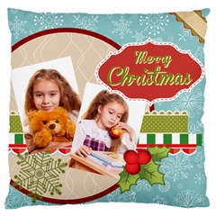 Merry Christmas By Joely   Large Cushion Case (two Sides)   H25brekogaw6   Www Artscow Com Front