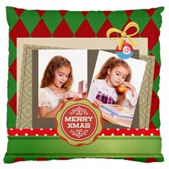 Merry Christmas By Joely   Large Cushion Case (two Sides)   Bw6by5qfe545   Www Artscow Com Front