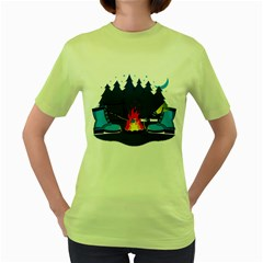 Boot Camp Womens  T-shirt (Green) by Contest1769712