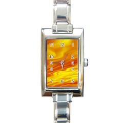 Design Rectangular Italian Charm Watch by Siebenhuehner