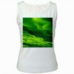 Green Womens  Tank Top (white) by Siebenhuehner