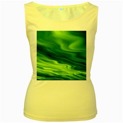 Green Womens  Tank Top (yellow) by Siebenhuehner