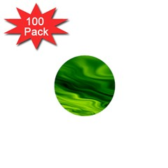 Green 1  Mini Button (100 Pack) by Siebenhuehner