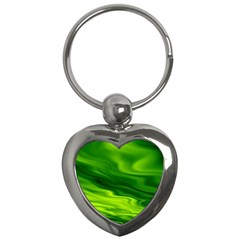 Green Key Chain (heart) by Siebenhuehner
