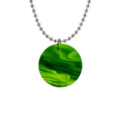 Green Button Necklace by Siebenhuehner