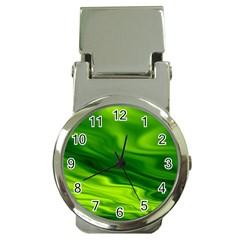 Green Money Clip With Watch by Siebenhuehner
