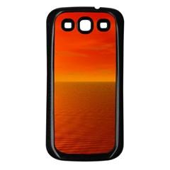 Sunset Samsung Galaxy S3 Back Case (black) by Siebenhuehner