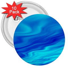 Blue 3  Button (10 Pack) by Siebenhuehner