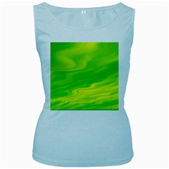 Green Womens  Tank Top (baby Blue) by Siebenhuehner