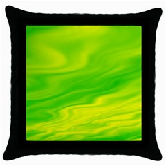 Green Black Throw Pillow Case by Siebenhuehner