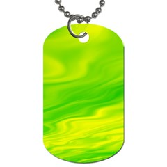 Green Dog Tag (two Sided)  by Siebenhuehner
