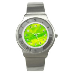 Green Stainless Steel Watch (unisex) by Siebenhuehner