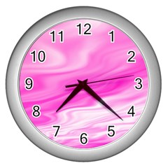 Background Wall Clock (Silver)