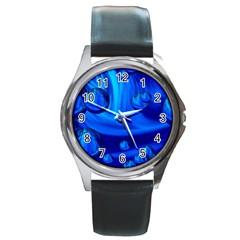 Modern  Round Metal Watch (silver Rim) by Siebenhuehner