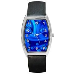 Modern  Tonneau Leather Watch by Siebenhuehner