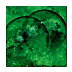 Green Bubbles Ceramic Tile by Siebenhuehner