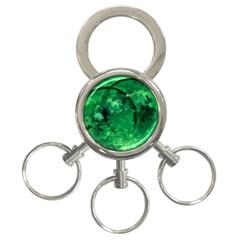 Green Bubbles 3 Ring Key Chain by Siebenhuehner
