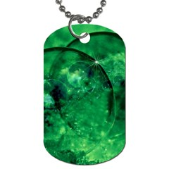 Green Bubbles Dog Tag (two Sided)  by Siebenhuehner