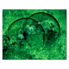 Green Bubbles Jigsaw Puzzle (rectangle) by Siebenhuehner