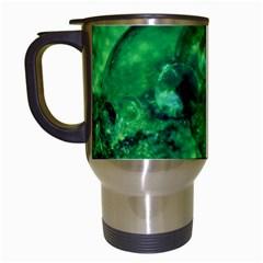 Green Bubbles Travel Mug (white) by Siebenhuehner