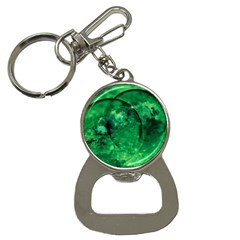 Green Bubbles Bottle Opener Key Chain by Siebenhuehner