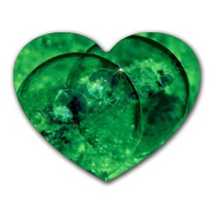 Green Bubbles Mouse Pad (Heart)