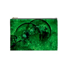 Green Bubbles Cosmetic Bag (medium) by Siebenhuehner