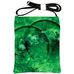Green Bubbles Shoulder Sling Bag by Siebenhuehner