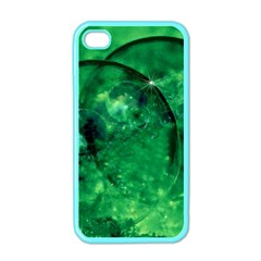 Green Bubbles Apple Iphone 4 Case (color) by Siebenhuehner